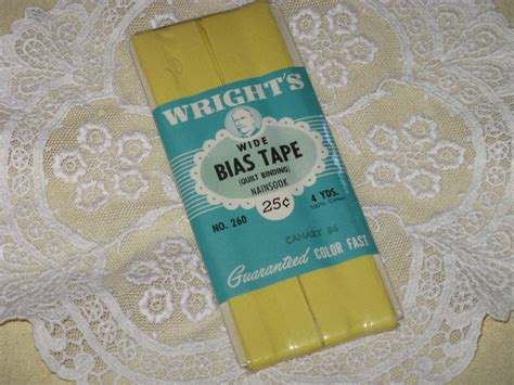 wrights yellow quilt binding wide bias cotton 4 by