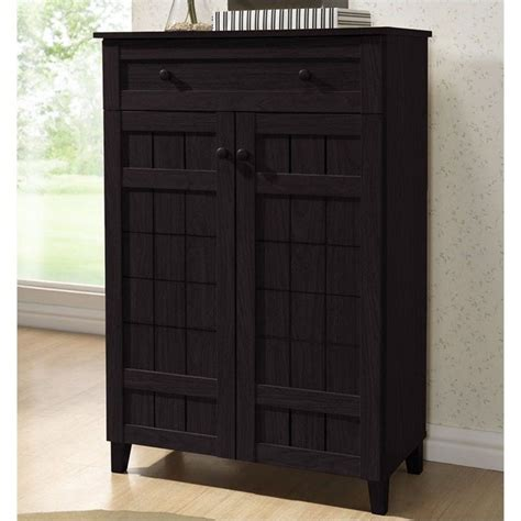 baxton studio shoe cabinet baxton studio glidden shoe cabinet in brown 504053