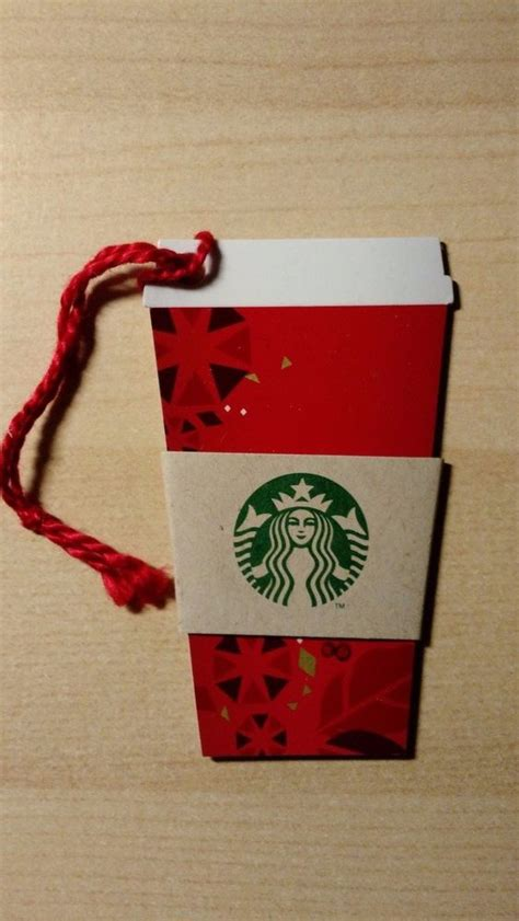 Starbucks Christmas Gift Cards 2013 - starbucks 2013 christmas mini red cup gift card die cut ornament coffee sleeve ebay