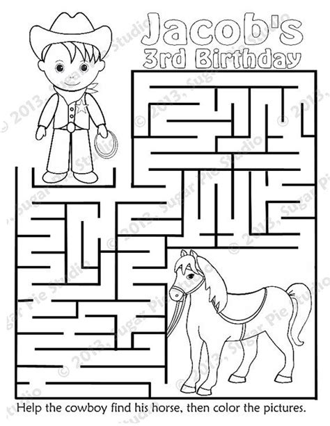 printable horse maze 165 best images about wild west themed activities on