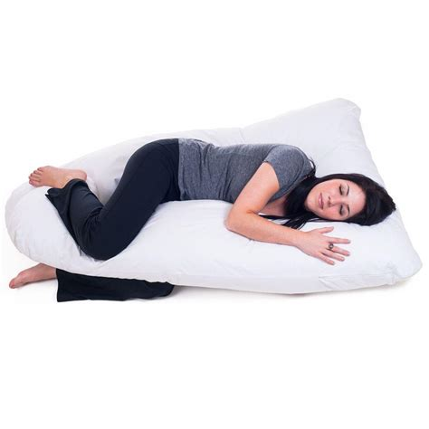 softeze maternity pregnancy full body long bed pillow ebay remedy full body contour u pillow 64 pregn u whi the
