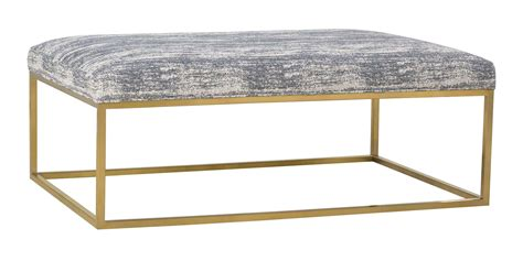 olson upholstered coffee table ottoman with gold finish