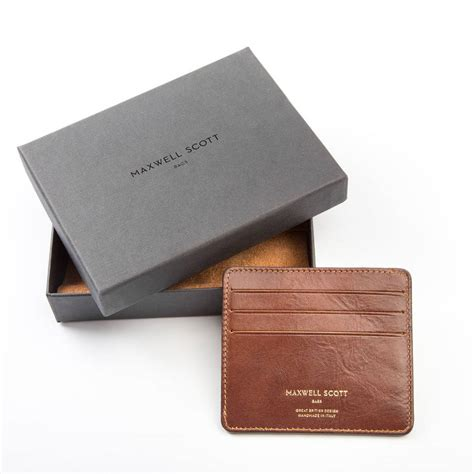 Card Holder personalised italian leather card holder by maxwell