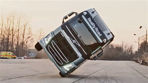 volvo lorry volvo truck stunt youtube