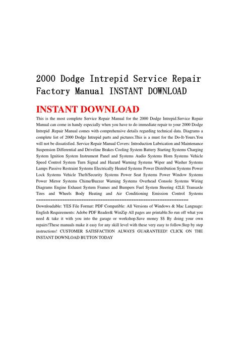 how to download repair manuals 2003 dodge intrepid security system 2000 dodge intrepid service repair factory manual instant download by jsefjsen34 issuu