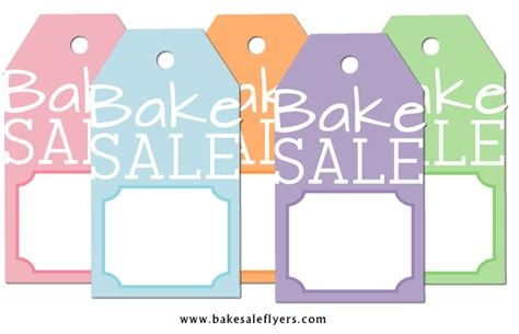 10 best images of bake sale printable tags free