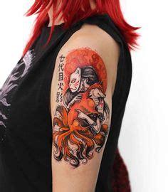 zorro tattoo oriental tatuaje zorro de varias colas tattoos pinterest