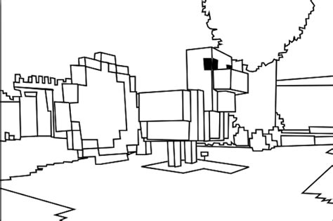 minecraft coloring pages chicken chicken minecraft coloring pages for kids boys and girls