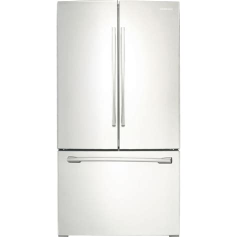 Samsung Door Fridge Not Cooling by Samsung Rf260beaeww White Fridge Samsung Rf260beae 26 Cu