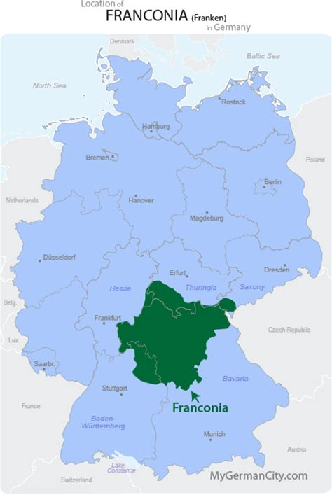 Top 10 Places To Visit In Us by Franconia Map Franken Map