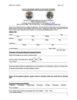 view and print la county volunteer application fill