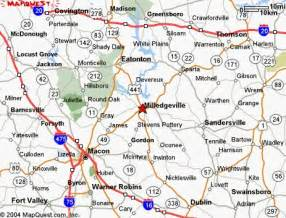 milledgeville map map