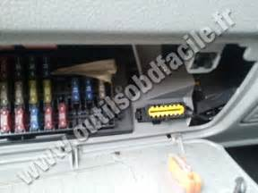 Renault Kangoo Obd Location Obd2 Connector Location In Renault Kangoo Outils Obd Facile