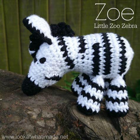 crochet free pattern zebra zoe the crochet zebra look at what i made