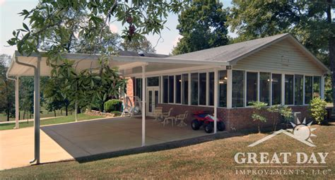 Metal Deck Awning Patio Cover Designs Ideas Amp Pictures Great Day Improvements
