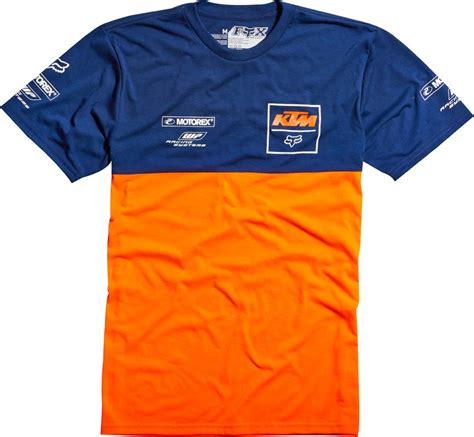 Tshirt Kaos Ktm Racing fox racing ktm replica t shirt blue orange fox racing mens shirts at bob s cycle supply bob