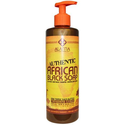 Afro Biscuit Liquid alaffia authentic black soap tangerine citrus 16 fl oz 475 ml iherb