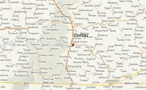 kentucky map corbin corbin location guide