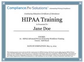 hipaa certificate template doc sle certificate hipaa sle hipaa