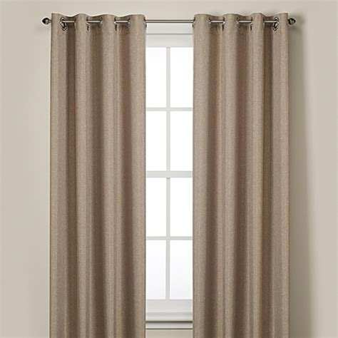 bed bath and beyond linen curtains buy rockport blackout grommet window curtain panels from