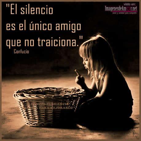 imagenes con frases bonitas sobre el silencio imagenes de silencio con frases imagui