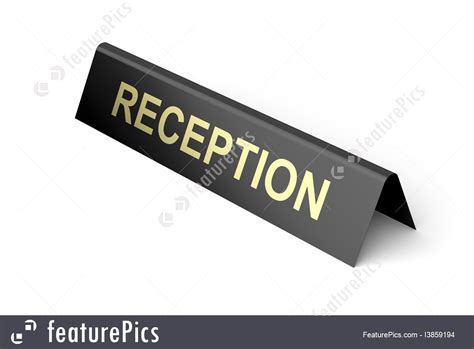 reception desk signs hotel reception sign illustration
