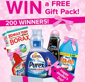 Purex Sweepstakes - free gift pack from purex sweepstakes