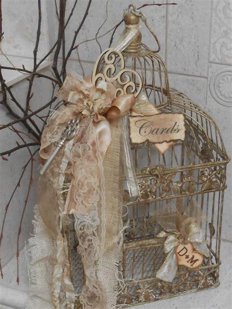 Wedding Card Box / Birdcage Cardholder / Vintage Wedding