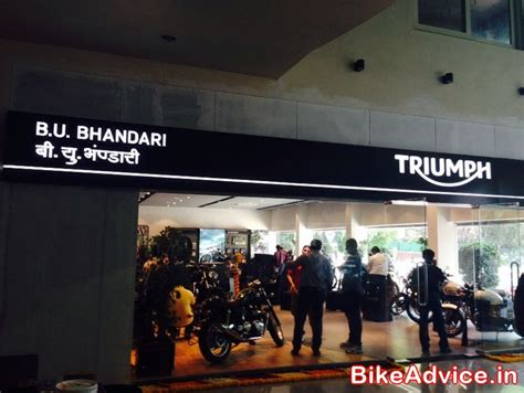 themes store pune triumph launches pune dealership b u bhandari their 4th