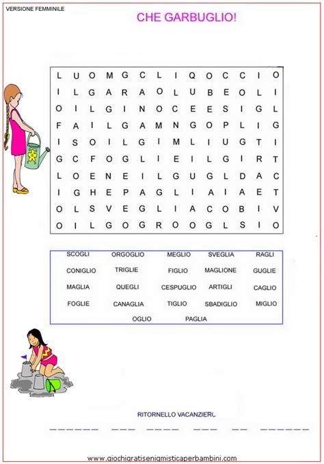 parole con 10 lettere garbugliowinx g giochi enigmistici per bambini esercizi