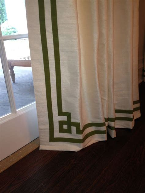 greek key curtains drapes curtain detail using grosgrain ribbon in quot greek key