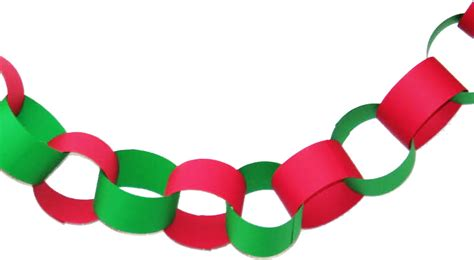 Paper Chains - retro construction paper chain link garland retro planet
