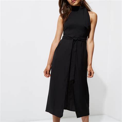 Sleeveless Mini Midi Dress black tie neck sleeveless midi dress dresses sale