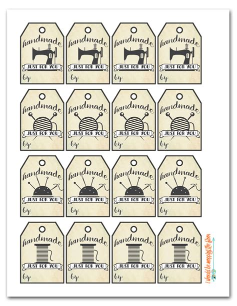 printable tags for handmade items i should be mopping the floor free printable handmade tags