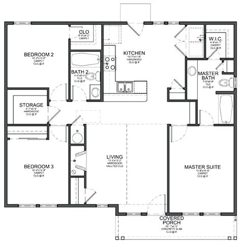 Three Bedrooms House Plans by Decoration Simple 3 Bedroom House Plans