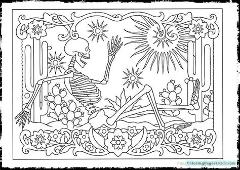 Day Of The Dead Skull Coloring Pages Free Printable Day Of The Dead Altar Coloring Pages
