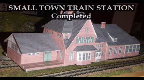 printable  scale small town train station youtube