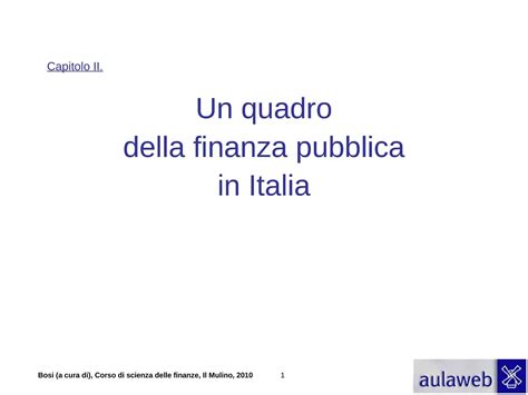 dispense scienze delle finanze finanza pubblica in italia bosi dispense