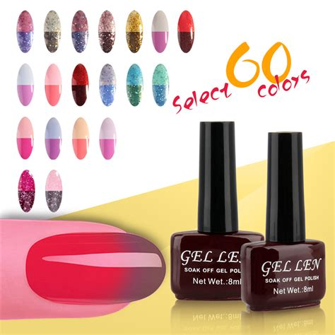 nail polish colors over 60 gel len tempreature color changing gel nail polish 60
