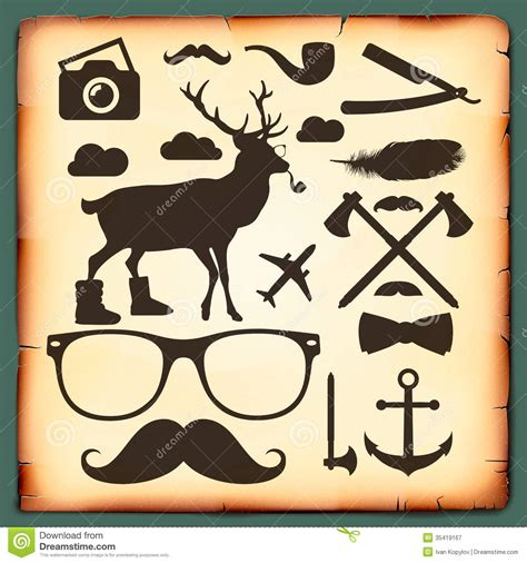 hipster design elements vector hipster style infographics elements for retro design stock