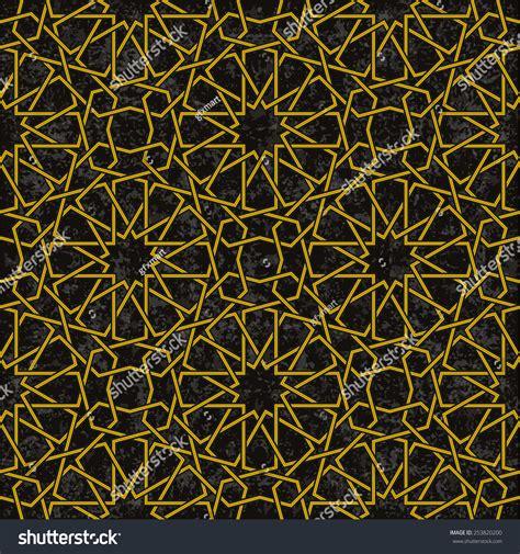 gold pattern for illustrator gold line star pattern background arabic stock vector