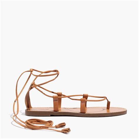 lace up sandal madewell the boardwalk lace up sandal in brown lyst