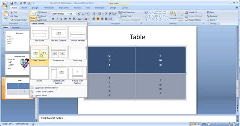 more design for microsoft powerpoint 2007 microsoft powerpoint 2007 pt1 add slides table picture
