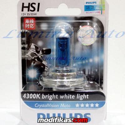 Bohlam Lu Philips H7 Vision 4300k baru lu motor philips bluevision crystalvision