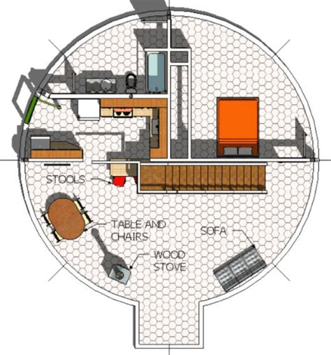 Draftsight Floor Plan by Real Working Drawings Monolithic Dome