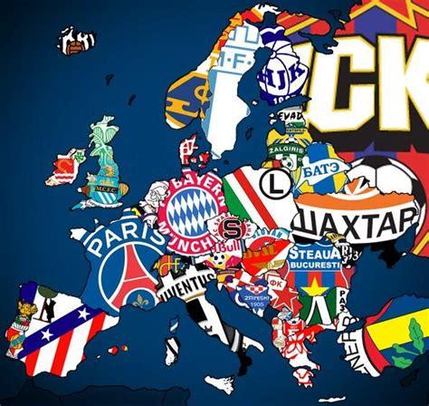 e tv sport medias la carte d europe des clubs de foot