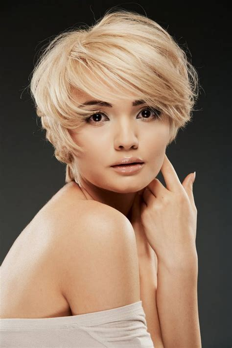 square face asymmetrical pixie bob short hairstyles for women fashionable look for every taste