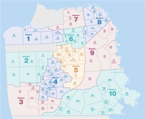 san francisco map by district changes to sfar mls subdistricts san francisco real