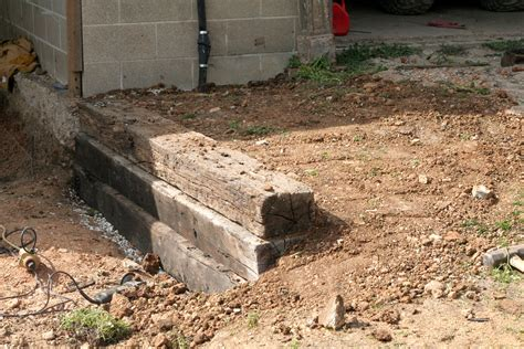 how to build a railroad tie retaining wall such and such farm