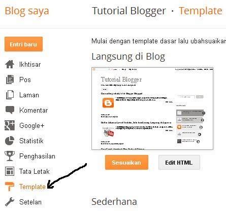 tutorial membuat template blog tutorial cara mengganti template blog di blogspot
